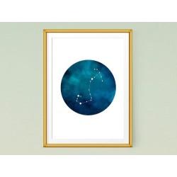 تابلو صورت فلکی عقرب - Constellation art Scorpius KH101