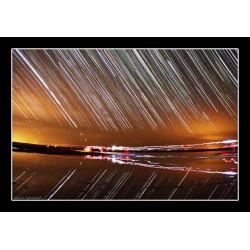 غروب ستاره ها بر بالای دریاچه نمک