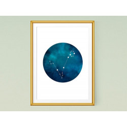 تابلو صورت فلکی ماهی - Constellation art Pisces KH101