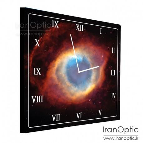 ساعت دیواری مربع طرح سحابی هلیکس - Helix Clock
